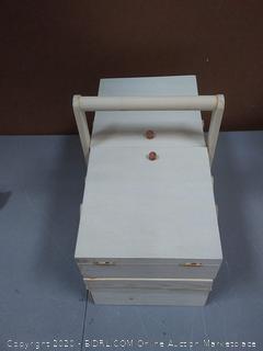 Mind Reader WSEWBOX-BRN Sewing Box Organizer, Needles(needs blue in 1 end)