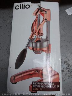 Cilio Commercial Grade Citrus Press Juicer, Copper (online $131)