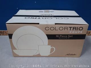 Noritake 16 Piece Dinnerware Set ColorTrio Coupe (online $169)