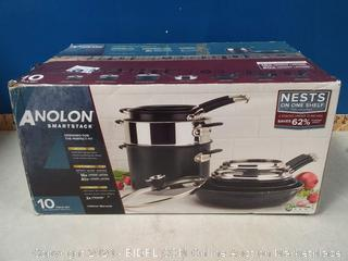Anolon SmartStack 10-Pc. Hard-Anodized Nesting Cookware Set (online $399)