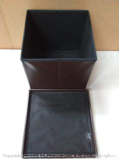 Winsome Ashford ottoman with storage faux leather