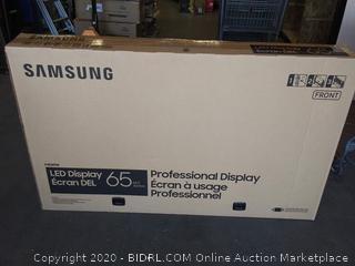"LG LED 65""  professional display Samsung - cracked display - Online $1199"