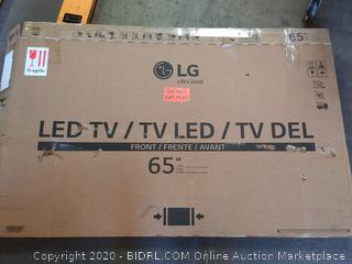 """LG 65"""" LED TV. (powers on - screen cracked) - Online $1,999"""