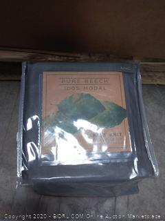 Pure Beech Jersey Knit Modal King Sheet Set in Charcoal (online $105)