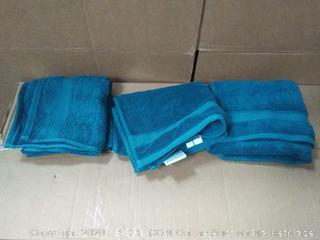 Wamsutta 100% cotton teal hand towel 3pc set