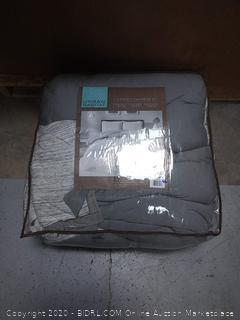 Urban Habitat Space Dyed Melange Cotton Jersey Knit Comforter Set Grey King/Cal King (online $99)