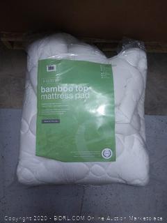 bamboo top mattress pad Queen