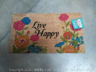 live happy doormat(small chunk out of end)