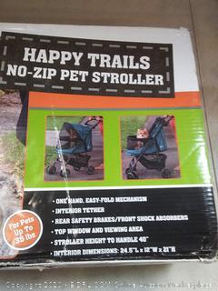 pet gear Happy Trails no zip pet stroller for small dogs (rack 1 floor)