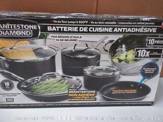 Brand NEW Granite Rock 10-Pc. Cookware Set 2228