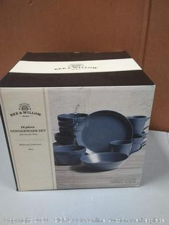 bee and Willow home 16-piece dinnerware set (missing one dinner plate)