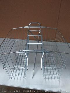 Wald rear twin bicycle carrier basket