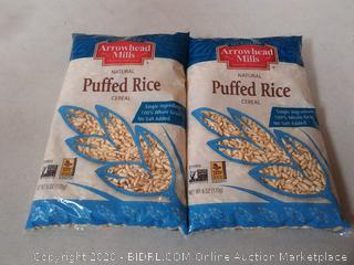 Arrowhead Mills Natural Puffed Rice Cereal - 6 oz 2 count