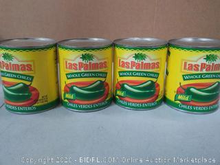 Las Palmas whole green chiles mild 4 count