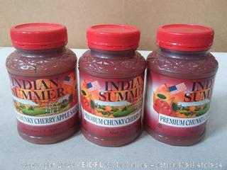 Indian Summer Chunky Cherry Applesauce, 23 Ounce 3 count