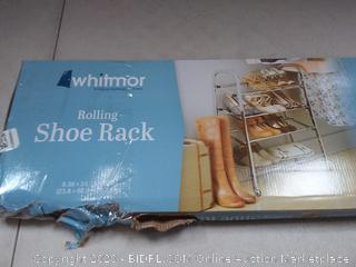 "Whitmor - Shoe Rack - Rolling 4 Tier Shoe Rack 9.38"""