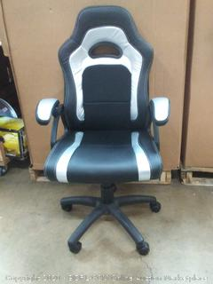 terrific office black and silver chair