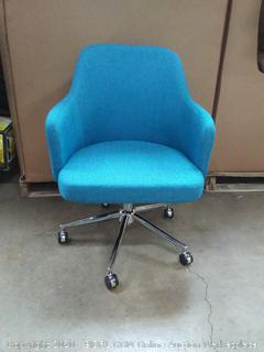 AmazonBasics Classic, Adjustable, Swivel Office Desk Chair blue