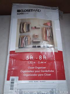 ClosetMaid 5636 SuperSlide 5-Feet to 8-Feet Closet Organizer Kit