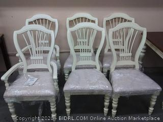 Ashley DLX Haddigan upholstered side chair( 6 chairs)