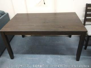 "Ashley dark Farm style Sawtooth top table 5'' Long x 3' wide x 30"" tall"