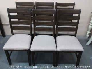 Ashley upholstered Farm style chairs( 6 chairs)