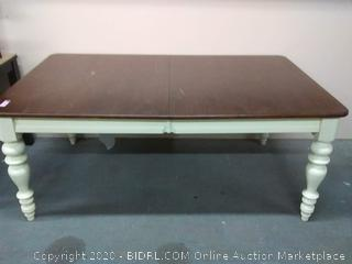 """Ashley DLX Haddigan creme table 6' Long by 44"""" side by 30"""" tall (see pictures)"""