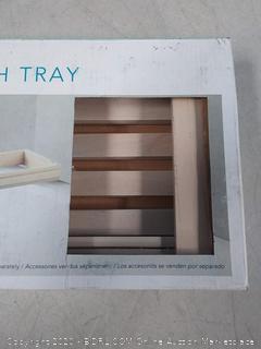 teak extendable bath tray (Craked)