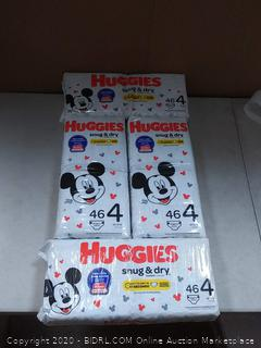 HUGGIES Snug & Dry Diapers, Size 4, 184 Count