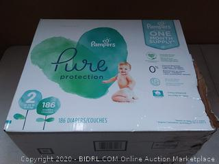 Pampers pure protection size 2 186 diapers