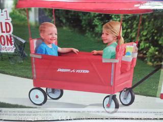 Radio Flyer 3 in 1 EZ fold wagon canopy (online $99)