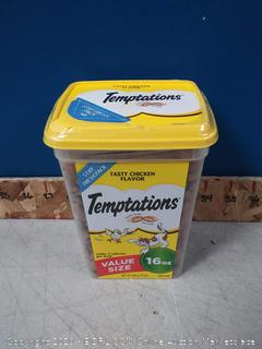 TEMPTATIONS Classic Crunchy and Soft Cat Treats Tasty Chicken