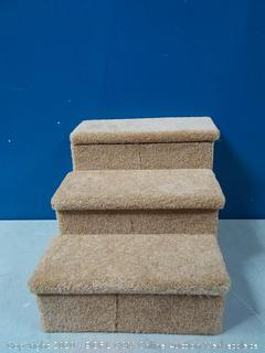 Penn Plax 3 Step Carpeted Pet Stairs For Cats And Dogs Up To