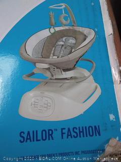 Graco Sense2Soothe Baby Swing with Cry Detection Technology, Sailor (powers on) online $239