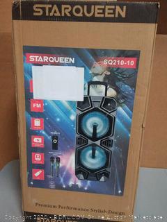 starqueen SQ210-10 PA speaker and karaoke machine(factory sealed) (Online $255)