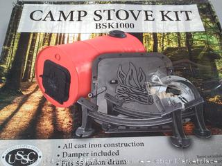 US Stove BSK1000 Cast Iron Barrel Stove Kit - BSK1000 • Ingrams