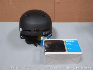 Giro Kinder Crue MIPS Helm - schwarz comes with gyro Chico snow Sports goggles