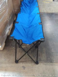 collapsible sports team bench(slightly bent on 2 legs)