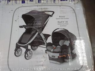 Chicco Bravo Trio system 3 in 1 Travel Solutions Bravo quick fold stroller keyfit 30 infant car seat and base