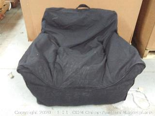 Easy Chair Medium with Removable Cover Black Bean Bag (online $74)