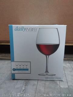 daily wear red wine glasses (one missing)