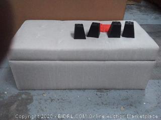 "Michaela Modern Button-Tufted Fabric Upholstered 35"" Storage Ottoman"