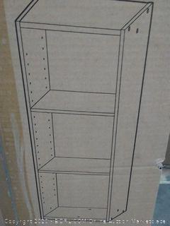 "IRIS USA Space Saving Shelf with Adjustable Shelves,14 x 34"" Walnut Brown"