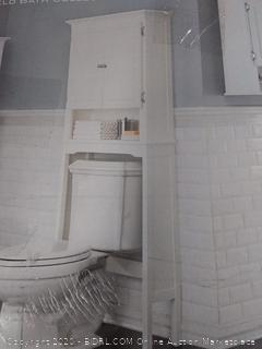 Wakefield Over the Toilet Space Saver in White 2-door