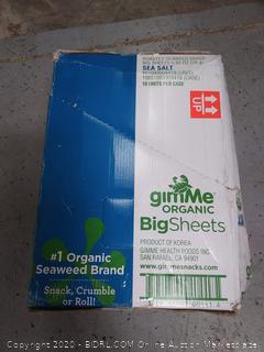 gimme organic big sheets roasted seaweed snack sea salt