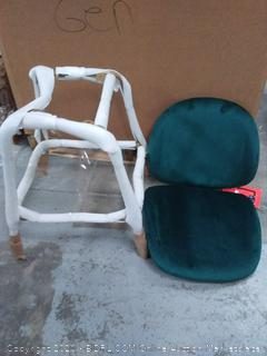 upholstered counter stool green suede
