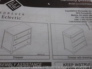 forever electric Harmony dresser(cracked panel)