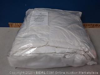 Restful Nights Premium Down Comforter in White King, 300 thread count, 550 fill power white duck down (online $215)