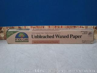 Unbleached Wax Paper