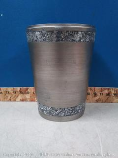 India Ink Omni Wastebasket in Pewter (Scuffed) online $39